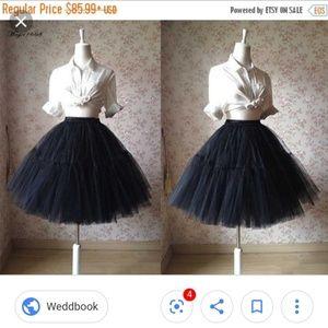 Dresses & Skirts - Black tulle Skirt/ knee